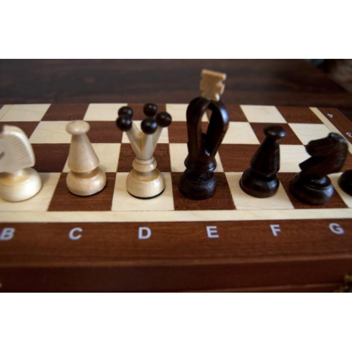 Шахи Королівські середні / Krolewskie Srednie (махагон)