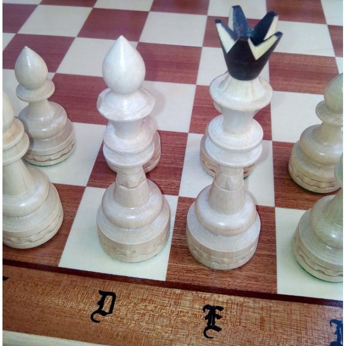 Шахматы Индийские большие интарсия / Indyjskie c-119f Madon