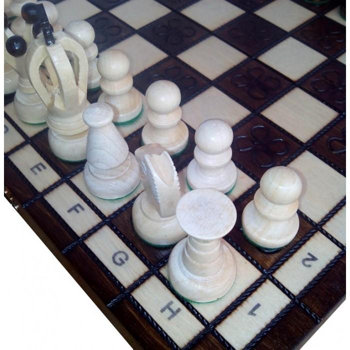 Шахматы Королевские малые с выжиганием / Krolewskie male wypalene с-138