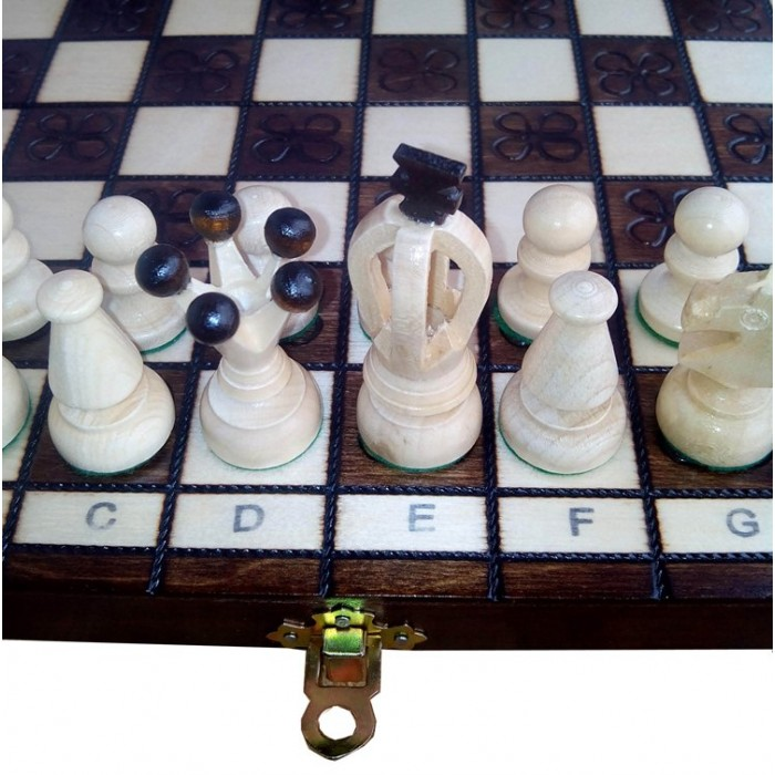 Шахматы Королевские малые с выжиганием / Krolewskie male wypalene с-138 Madon