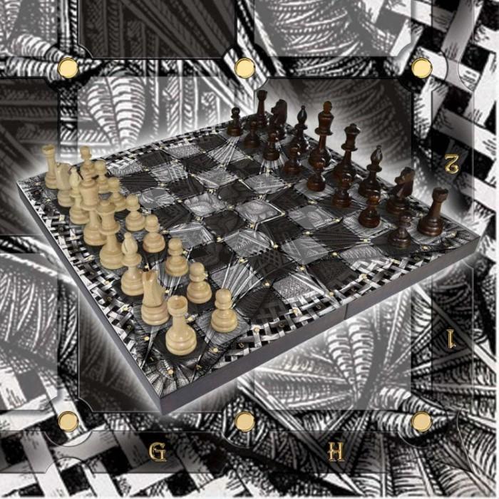 Шахматы подарочные с фотопечатью №11
