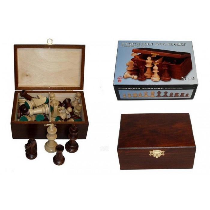 Шахматные фигуры Стаунтон (Staunton) №4 в коробке