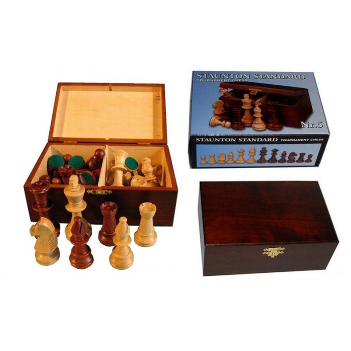 Шахові фігури Стаунтон (Staunton) № 5 в коробці
