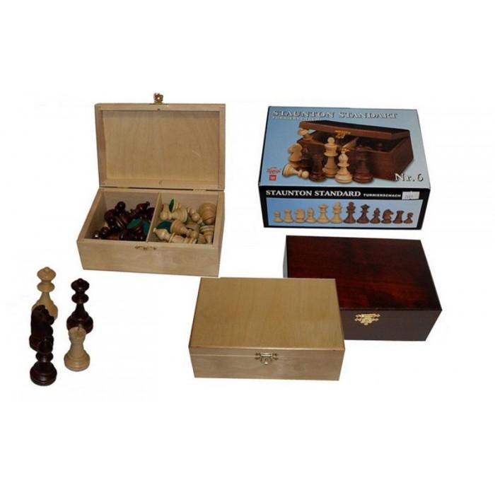 Шахові фігури Стаунтон (Staunton) №6 в коробці