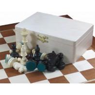 Шахматные фигуры Стаунтон (Staunton) №4 + шашки в коробке