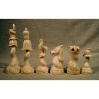 Скульптурні шахмати. Квіти в стилі модерн.