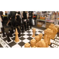Деревянные гигантские шахматы, пустотелые. Король 1100 мм