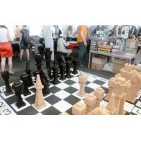 Дерев'яні гігантські шахмати, пустотілі. Король 1100 мм