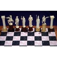 "Скульптурные шахматы ""Олимпийские боги"". Стеклопластик"