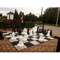 Большие садовые шахматы СШ-25. Высота короля 635 мм