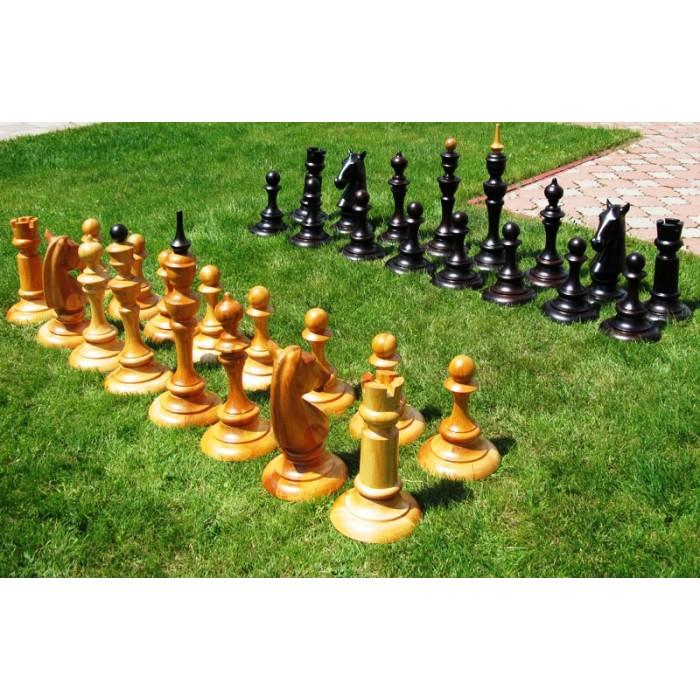 Большие деревянные шахматы. Высота короля 700 мм