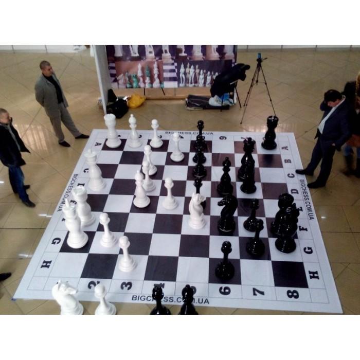 Большие шахматы для парков. Высота короля 900 мм. Стеклопластик