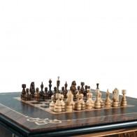 Шахматный стол ручной роботы (массив черешни, маркетри-орех)