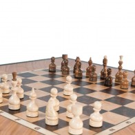 Шахматный стол ручной роботы Стандарт (массив ясеня)