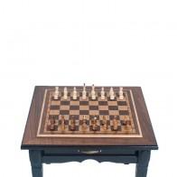 Шахматный стол-трансформер ручной роботы (массив ясеня)