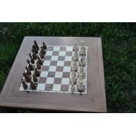 Шахматный стол Эконом (массив ясеня)