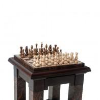 Шахматный стол Мраморный квадратный