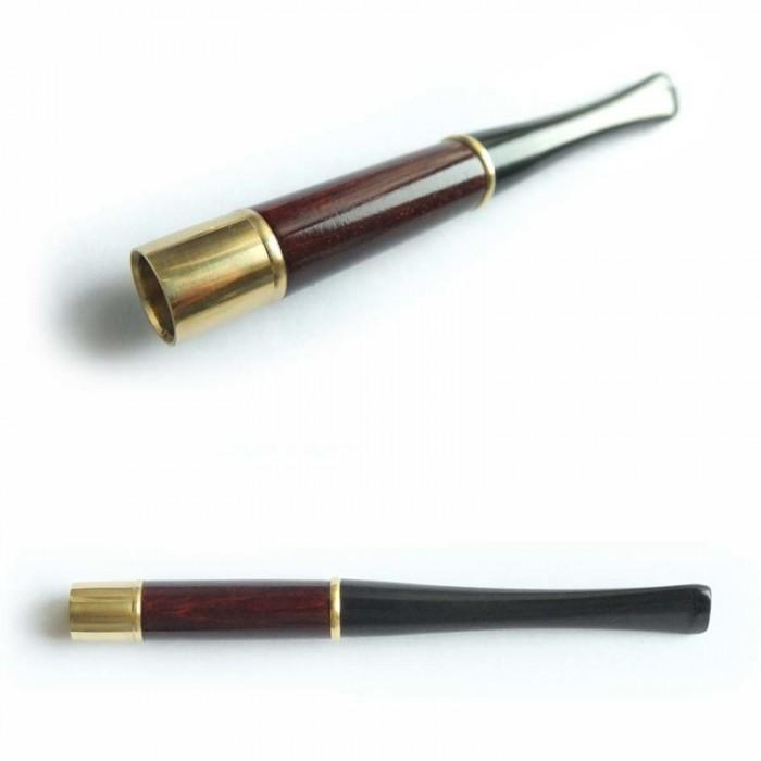 Мундштук для сигарет гладкий короткий с кольцами