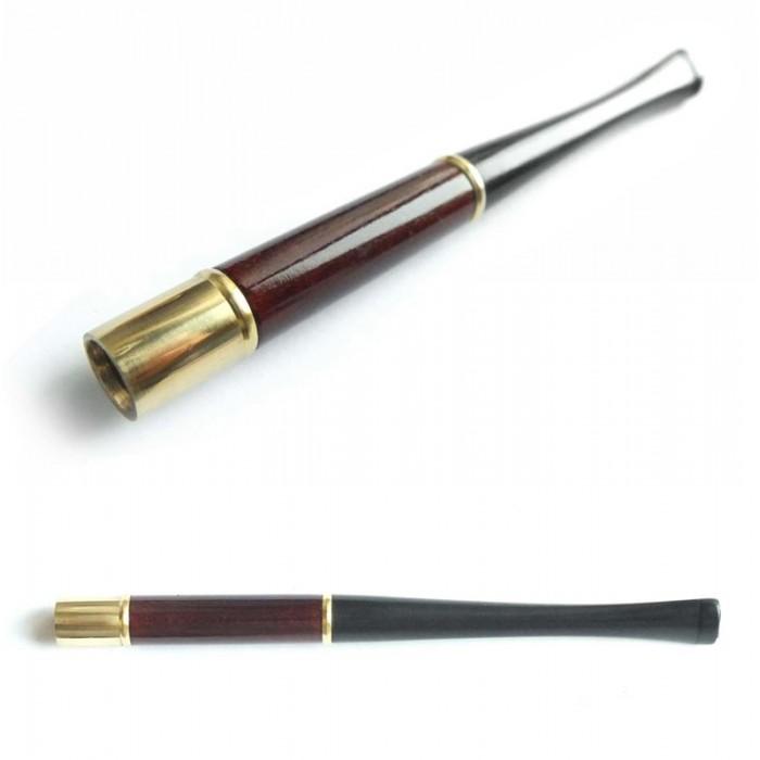 Мундштук для сигарет гладкий тонкий короткий с кольцами