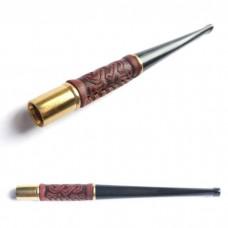 Мундштук для сигарет шкіряний тонкий короткий