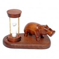 Пісочний годинник зі скульптурою Бегемот