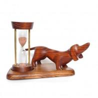 Часы песочные со скульптурой Такса