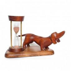 Годинник пісочний зі скульптурою Такса