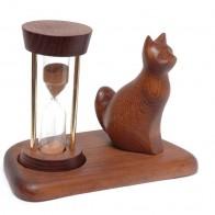 Часы песочные со скульптурой Кот сидячий
