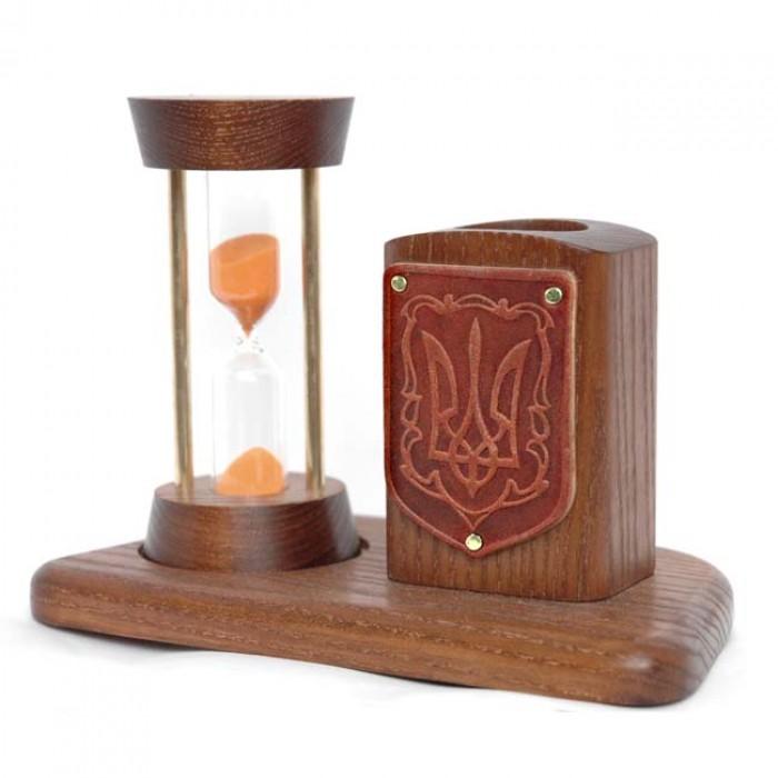 Пісочний годинник із тризубом + підставка для олівців і ручок