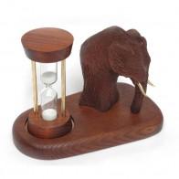Песочные часы со скульптурой Мамонт