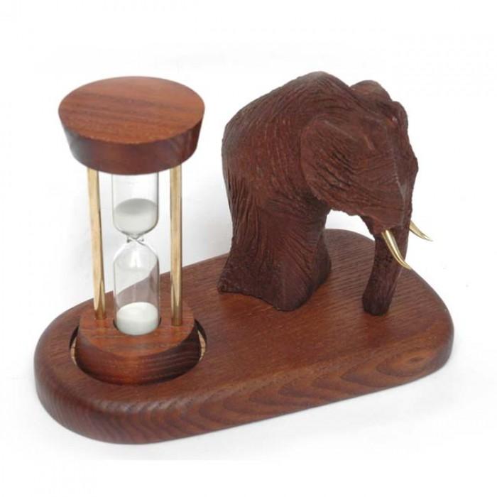 Пісочний годинник зі скульптурою Мамонт