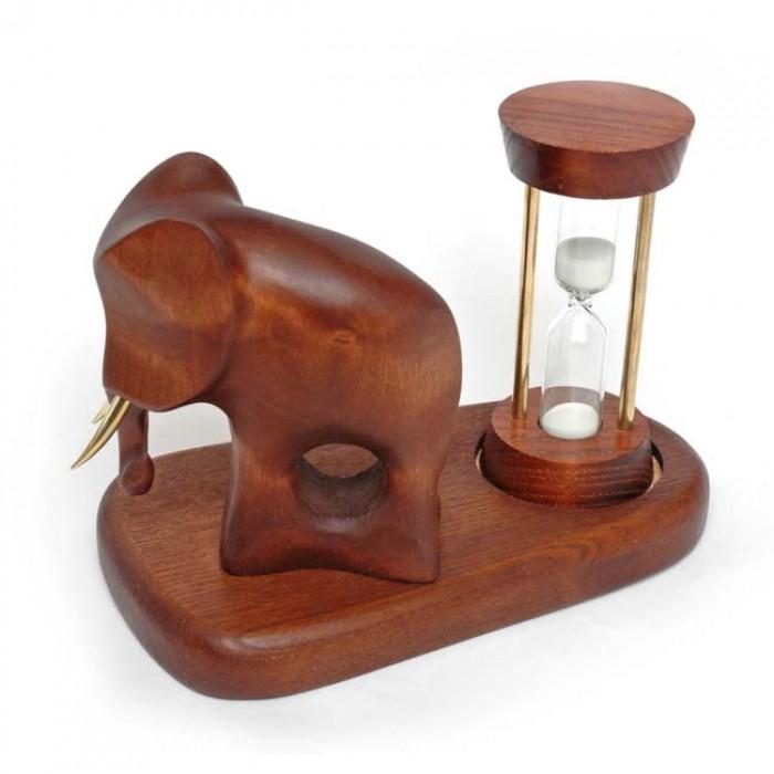 Пісочний годинник зі скульптурою Слон