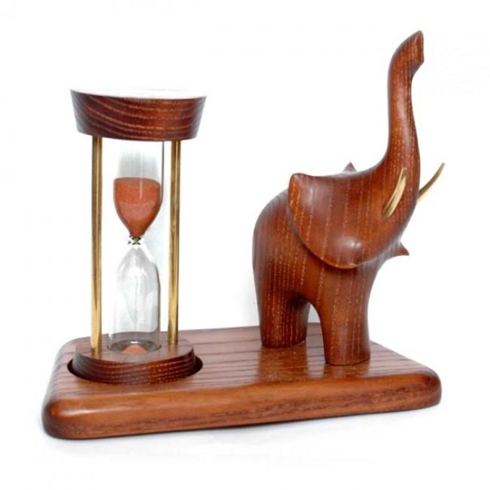 Годинник пісочний зі скульптурою Слон 2