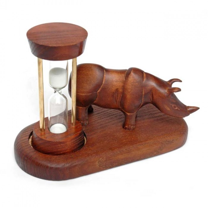 Годинник пісочний зі скульптурою Носоріг