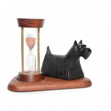 Часы песочные со скульптурой Собака Клякса
