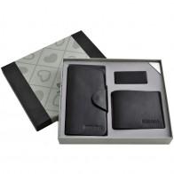 Мужской подарочный набор 3в1 портмоне/ключница/зажим для денег