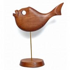 Статуэтка деревянная Рыба №1 коричневая
