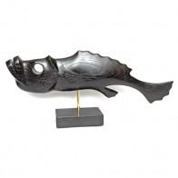 Статуетка дерев'яна Риба №4 чорна
