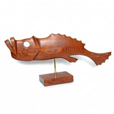 Статуэтка деревянная Рыба №4 коричневая