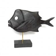 Статуетка дерев'яна Риба №6 чорна