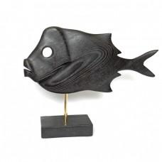 Статуэтка деревянная Рыба №6 черная