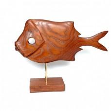 Статуэтка деревянная Рыба №6 коричневая