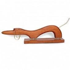 Статуэтка деревянная Такса N2 коричневая