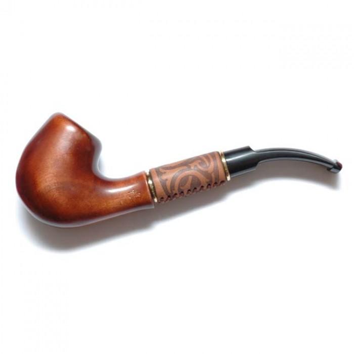 Трубка для куріння Бент в шкірі