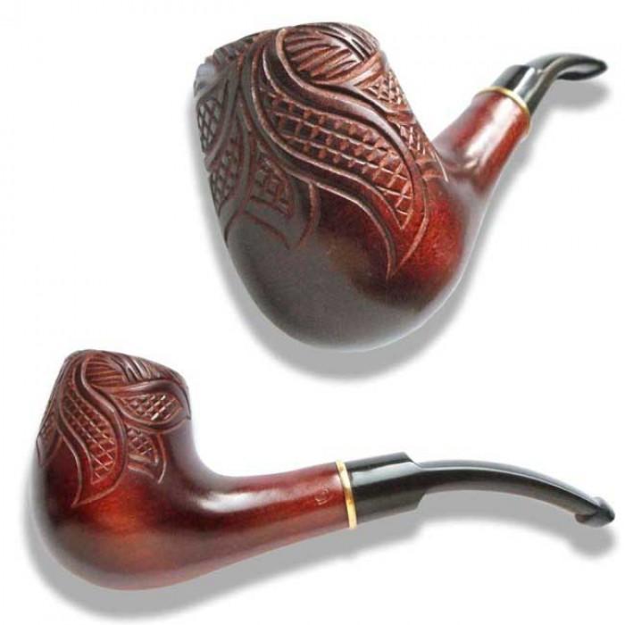 Трубка для курения Лесной узор стандарт