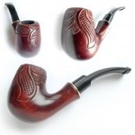 Трубка для курения Бент - лесной узор