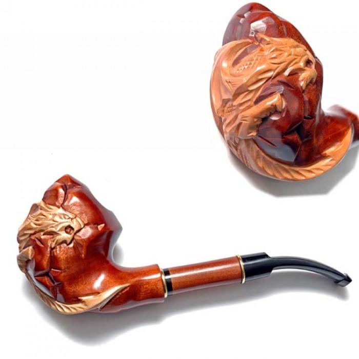 Трубка курительная  Супер (Дракон на камнях)