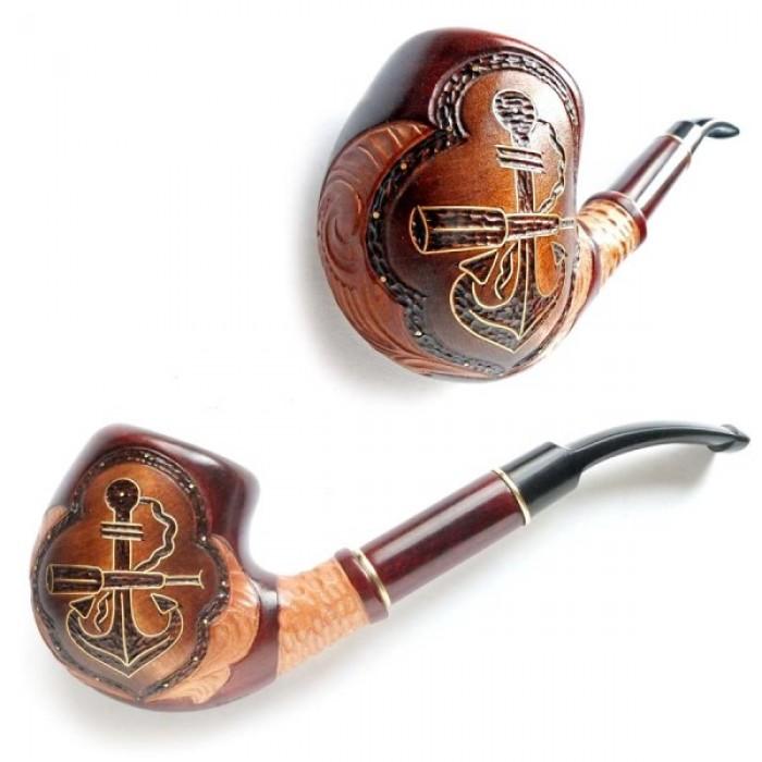Трубка курительная  Супер (Якорь с трубой инкрустированый)