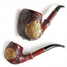 Трубка курительная Супер (Американский орел кожа золотой)