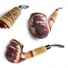 Трубка курительная Супер кожа светлая (Корабль)